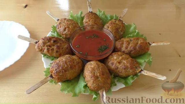 Фото приготовления рецепта: Люля-кебаб со сладким перцем (в духовке) - шаг №6