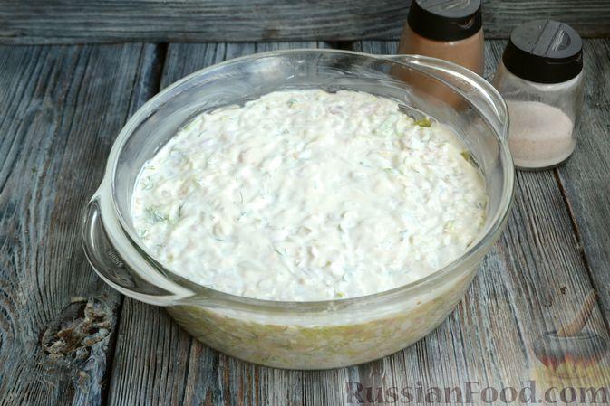 Фото приготовления рецепта: Запеканка из кабачков с куриным фаршем и болгарским перцем - шаг №12