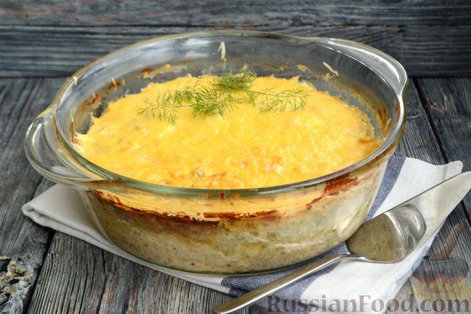 Фото приготовления рецепта: Запеканка из кабачков с куриным фаршем и болгарским перцем - шаг №14