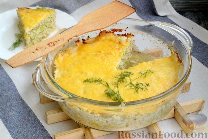 Фото приготовления рецепта: Запеканка из кабачков с куриным фаршем и болгарским перцем - шаг №15