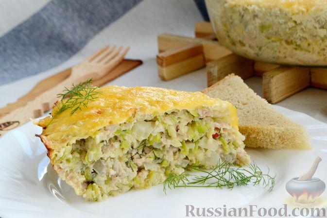 Фото приготовления рецепта: Запеканка из кабачков с куриным фаршем и болгарским перцем - шаг №16