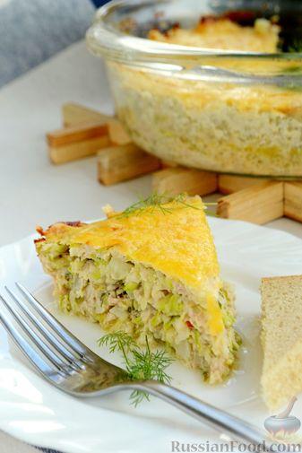 Фото приготовления рецепта: Запеканка из кабачков с куриным фаршем и болгарским перцем - шаг №17