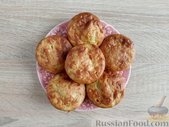 Фото приготовления рецепта: Кабачковые маффины с цедрой лимона - шаг №11