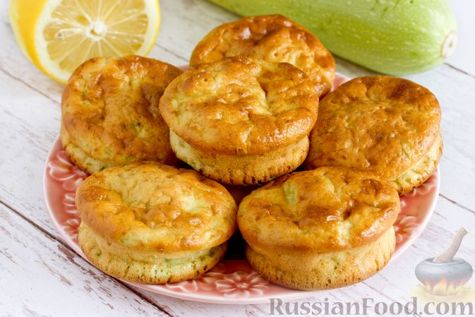 Фото приготовления рецепта: Кабачковые маффины с цедрой лимона - шаг №12