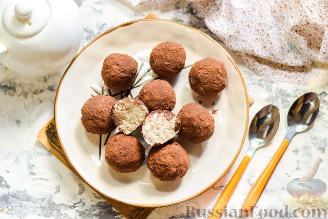 Фото приготовления рецепта: Творожные конфеты с овсяными хлопьями и бананом - шаг №13