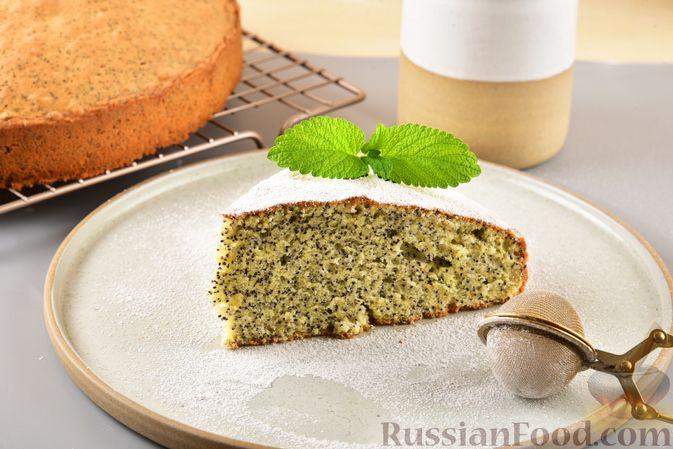 Фото к рецепту: Сдобный бездрожжевой пирог с маком