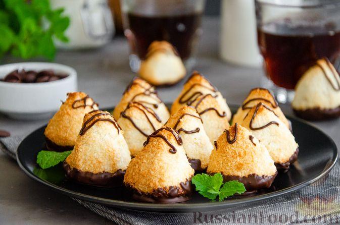 Фото к рецепту: Кокосовое печенье с шоколадом