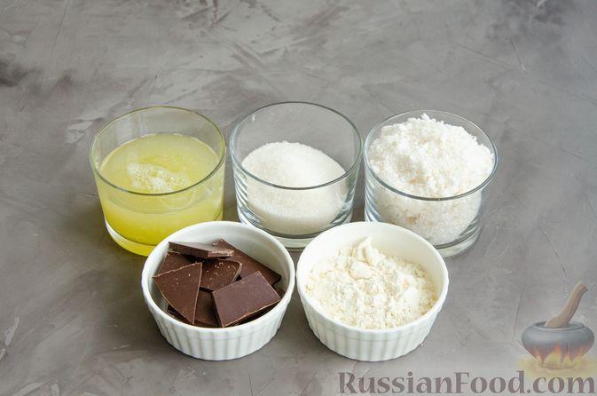 Фото приготовления рецепта: Кокосовое печенье с шоколадом - шаг №1