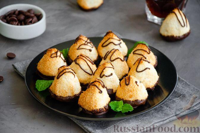 Фото приготовления рецепта: Кокосовое печенье с шоколадом - шаг №9