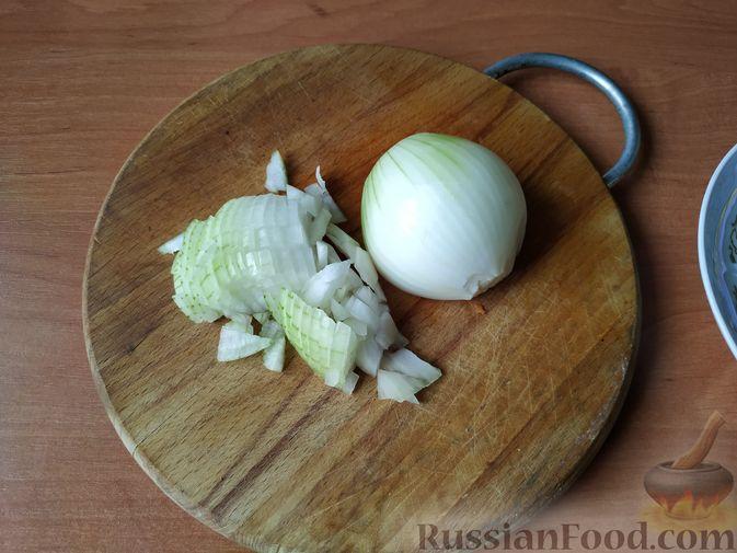 Фото приготовления рецепта: Птитим с курицей и овощами - шаг №3
