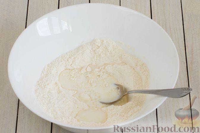 Фото приготовления рецепта: Панкейки без яиц (с крахмалом) - шаг №3