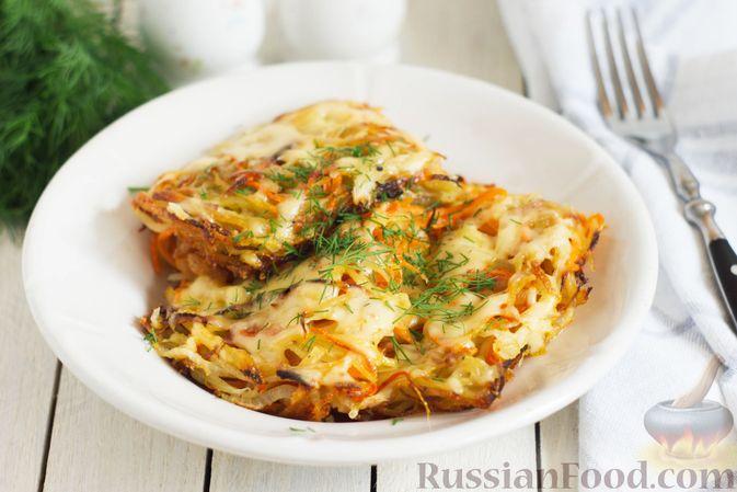 Фото к рецепту: Картофельно-морковная запеканка