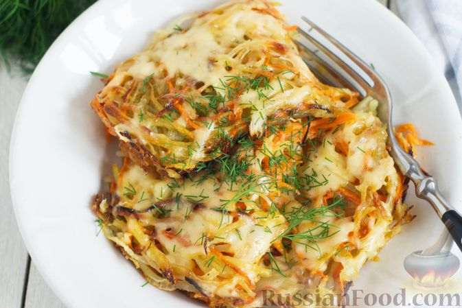 Фото приготовления рецепта: Картофельно-морковная запеканка - шаг №8