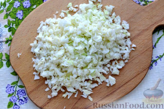 Фото приготовления рецепта: Ленивые голубцы с чечевицей (в духовке) - шаг №6
