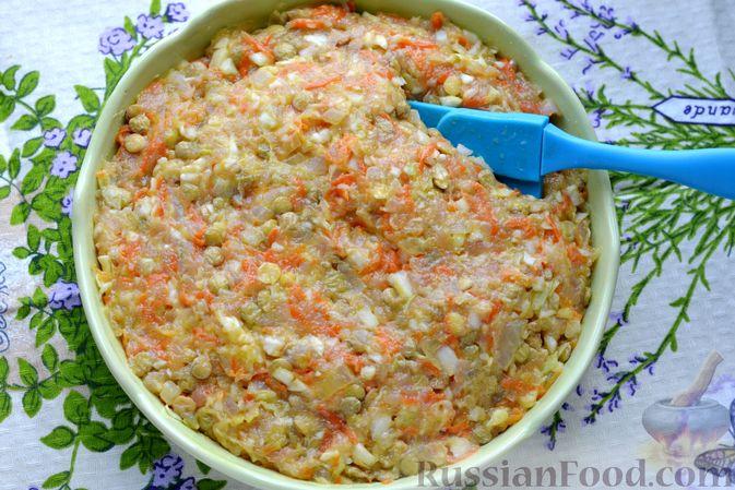 Фото приготовления рецепта: Ленивые голубцы с чечевицей (в духовке) - шаг №11