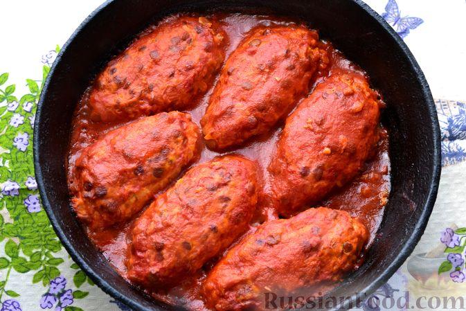 Фото приготовления рецепта: Ленивые голубцы с чечевицей (в духовке) - шаг №17