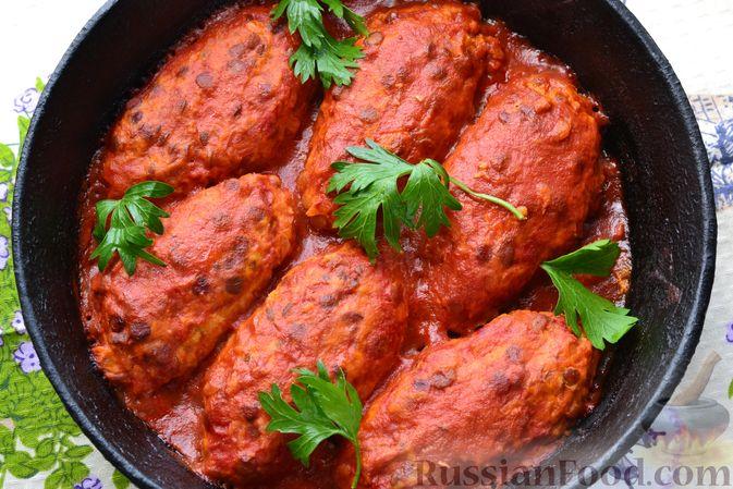 Фото приготовления рецепта: Ленивые голубцы с чечевицей (в духовке) - шаг №18