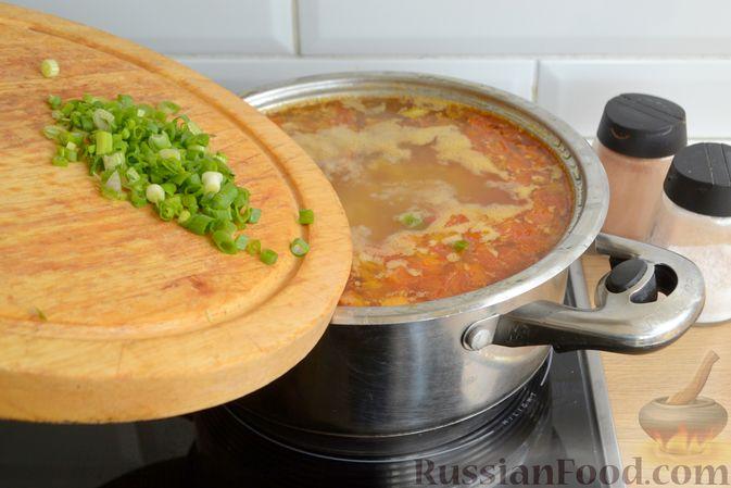 Фото приготовления рецепта: Чечевичный суп с говядиной и овощами - шаг №15