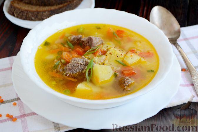 Фото приготовления рецепта: Чечевичный суп с говядиной и овощами - шаг №18