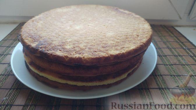 Фото приготовления рецепта: Пирог из песочных коржей, с лимонной начинкой - шаг №12