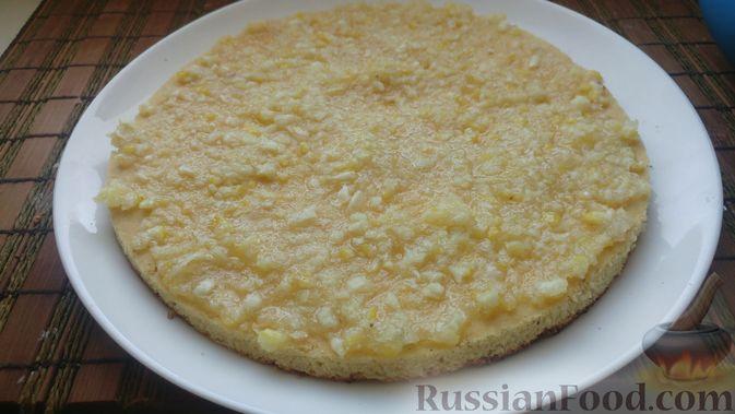 Фото приготовления рецепта: Пирог из песочных коржей, с лимонной начинкой - шаг №15