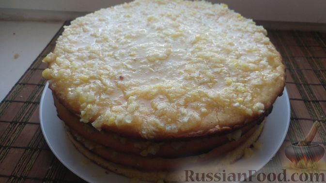 Фото приготовления рецепта: Пирог из песочных коржей, с лимонной начинкой - шаг №16