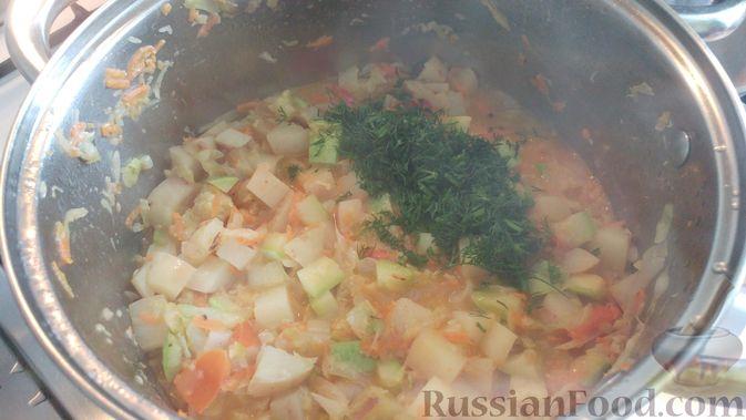 Фото приготовления рецепта: Овощной суп-рагу - шаг №15