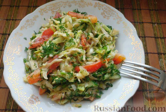 Фото приготовления рецепта: Овощной салат с икрой минтая - шаг №11