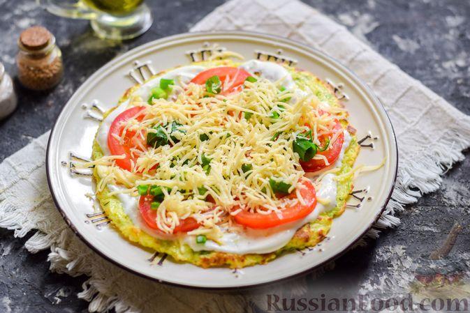 Фото приготовления рецепта: Закусочный торт из кабачков с помидорами и сыром - шаг №14
