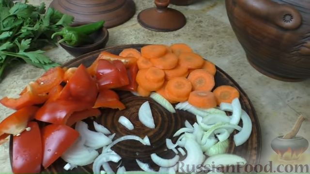 Фото приготовления рецепта: Басма с курицей в духовке - шаг №3