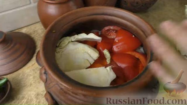 Фото приготовления рецепта: Басма с курицей в духовке - шаг №8