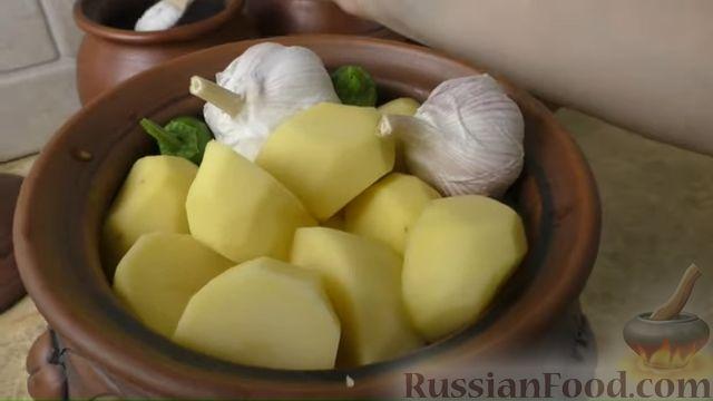Фото приготовления рецепта: Басма с курицей в духовке - шаг №9