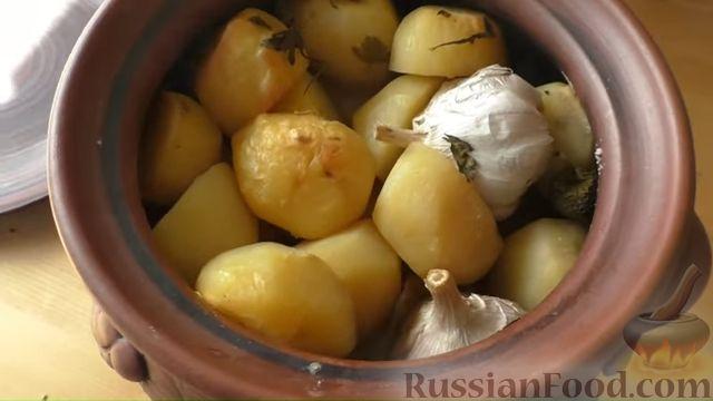 Фото приготовления рецепта: Басма с курицей в духовке - шаг №11