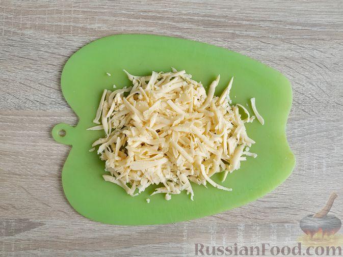 Фото приготовления рецепта: Грибной жюльен в кабачках - шаг №15