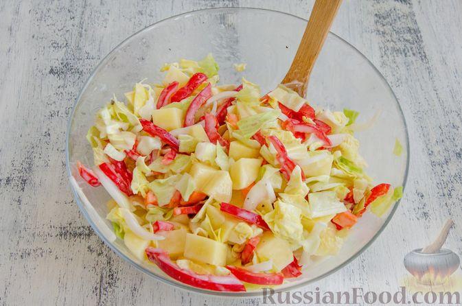 Фото приготовления рецепта: Овощное рагу с мясными фрикадельками, запечённое в рукаве - шаг №4