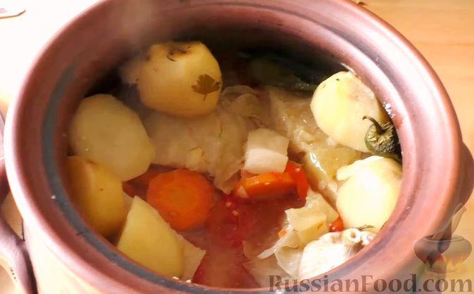 Фото приготовления рецепта: Басма с курицей в духовке - шаг №12