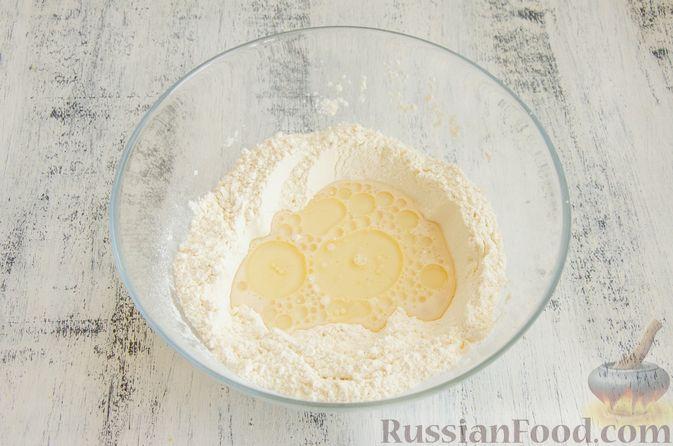Фото приготовления рецепта: Булочки с творогом, сыром и зеленью - шаг №3
