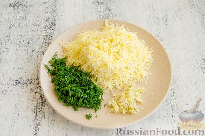 Фото приготовления рецепта: Булочки с творогом, сыром и зеленью - шаг №5