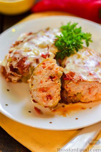 Фото приготовления рецепта: Голубцы с куриным фаршем и сладким перцем, запечённые в томатном соусе - шаг №26