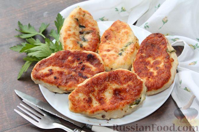 Фото к рецепту: Куриные зразы с творогом и шпинатом