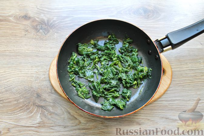 Фото приготовления рецепта: Куриные зразы с творогом и шпинатом - шаг №3