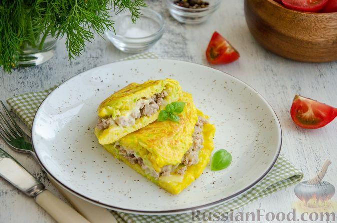 Фото приготовления рецепта: Картофельно-мясной пирог на кефире - шаг №26