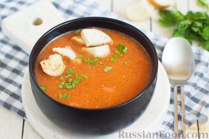 Фото к рецепту: Суп-пюре из цветной капусты, помидоров, сладкого перца и сельдерея