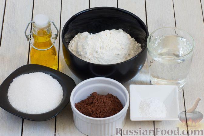 Фото приготовления рецепта: Шоколадные кексы на растительном масле, без яиц - шаг №1