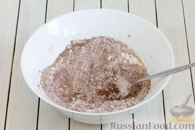 Фото приготовления рецепта: Шоколадные кексы на растительном масле, без яиц - шаг №3