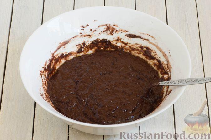 Фото приготовления рецепта: Шоколадные кексы на растительном масле, без яиц - шаг №5