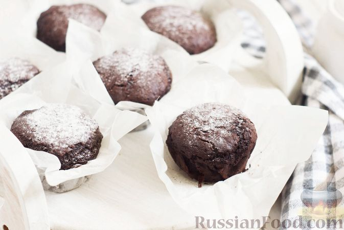 Фото к рецепту: Шоколадные кексы на растительном масле, без яиц