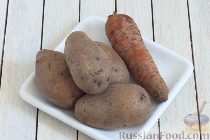 Фото приготовления рецепта: Винегрет с фасолью и краснокочанной капустой - шаг №4