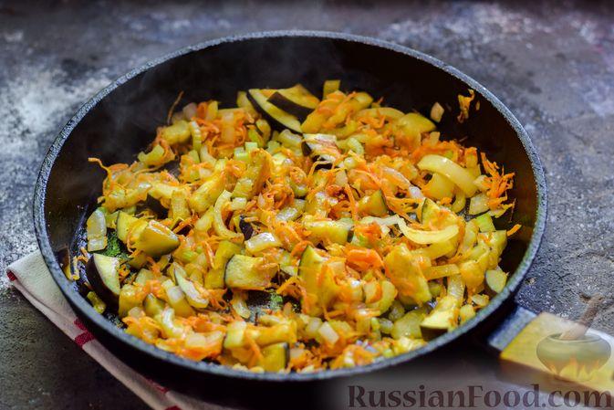Фото приготовления рецепта: Куриное филе, запечённое с фасолью и овощами, в томатном соусе - шаг №8