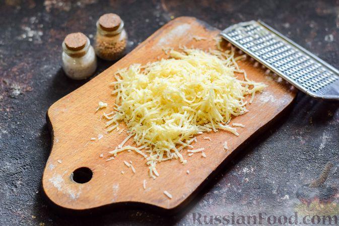 Фото приготовления рецепта: Хек, запечённый с помидорами и луком, под соусом бешамель (в рукаве) - шаг №14